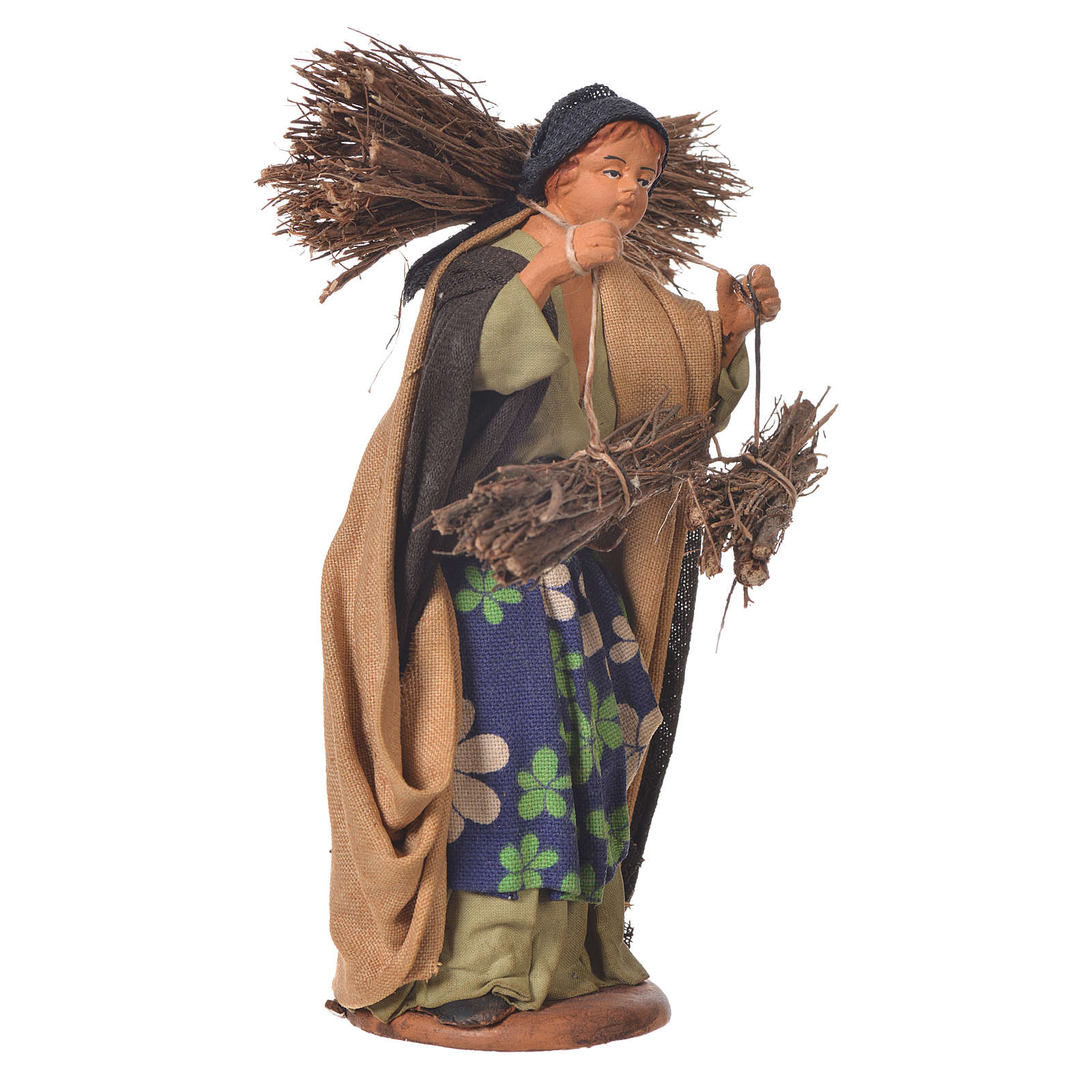 Woman with bundles, Neapolitan Nativity 14cm 4