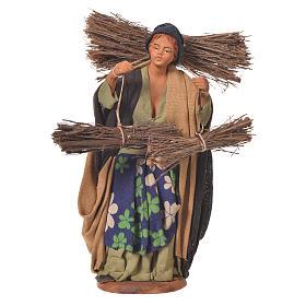 Woman with bundles, Neapolitan Nativity 14cm s1