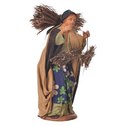 Woman with bundles, Neapolitan Nativity 14cm 2