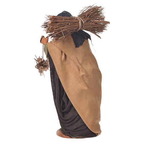 Woman with bundles, Neapolitan Nativity 14cm 3