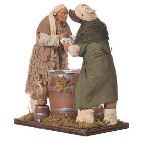 Men playing cards, Neapolitan Nativity 14cm s2