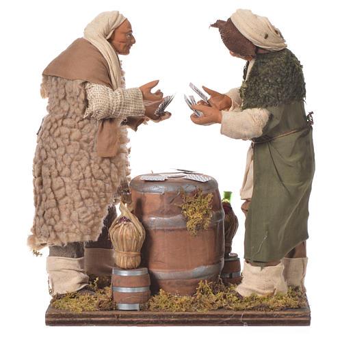 Men playing cards, Neapolitan Nativity 14cm 1