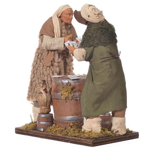 Men playing cards, Neapolitan Nativity 14cm 2