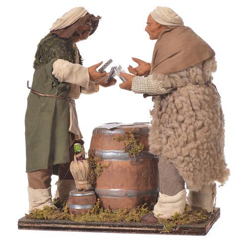 Men playing cards, Neapolitan Nativity 14cm 3