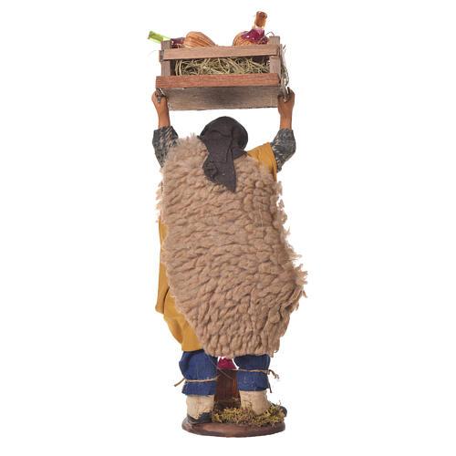 Homme transportant des fiasques 14 cm crèche napolitaine 2