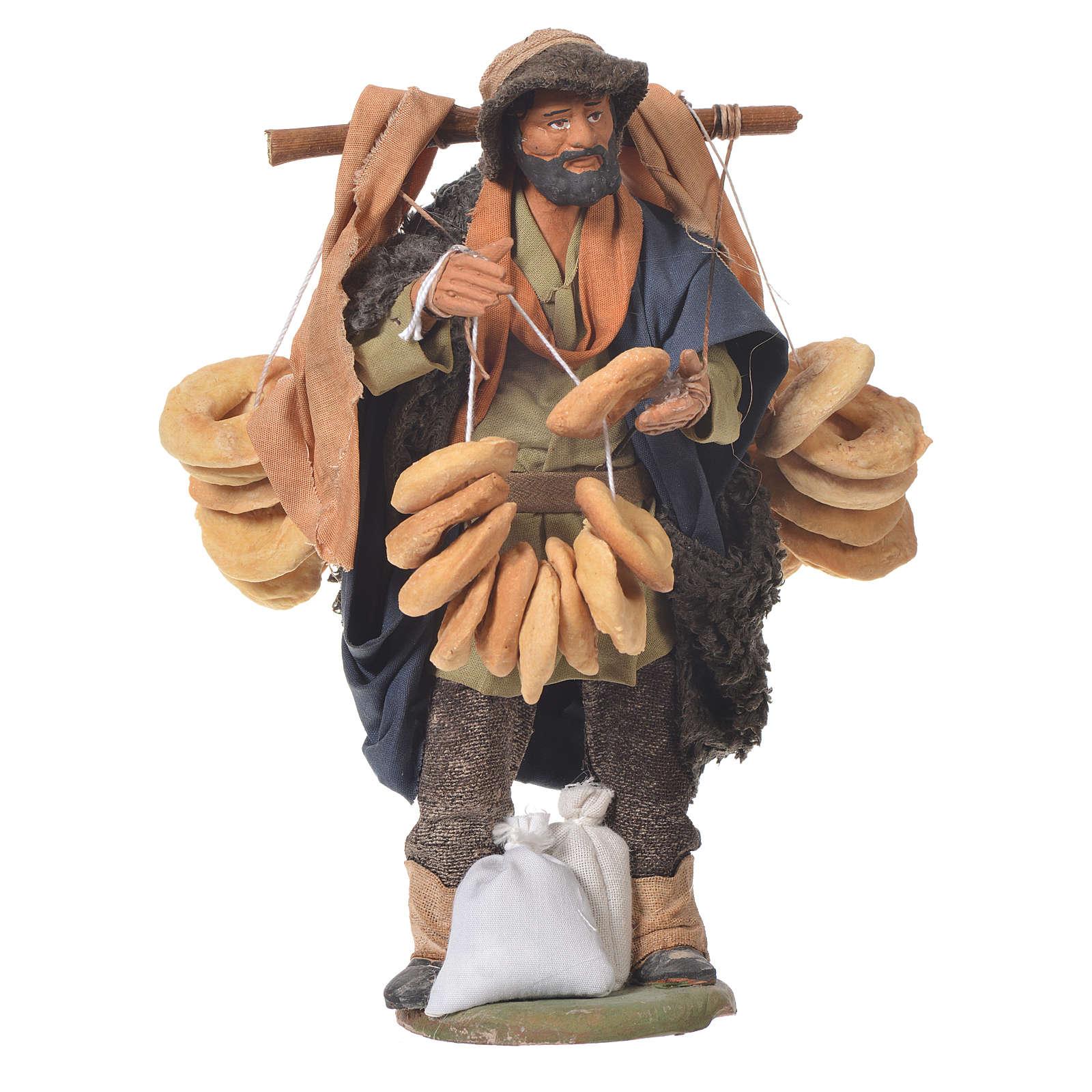 Vendeur de taralli 14 cm crèche Naples 4