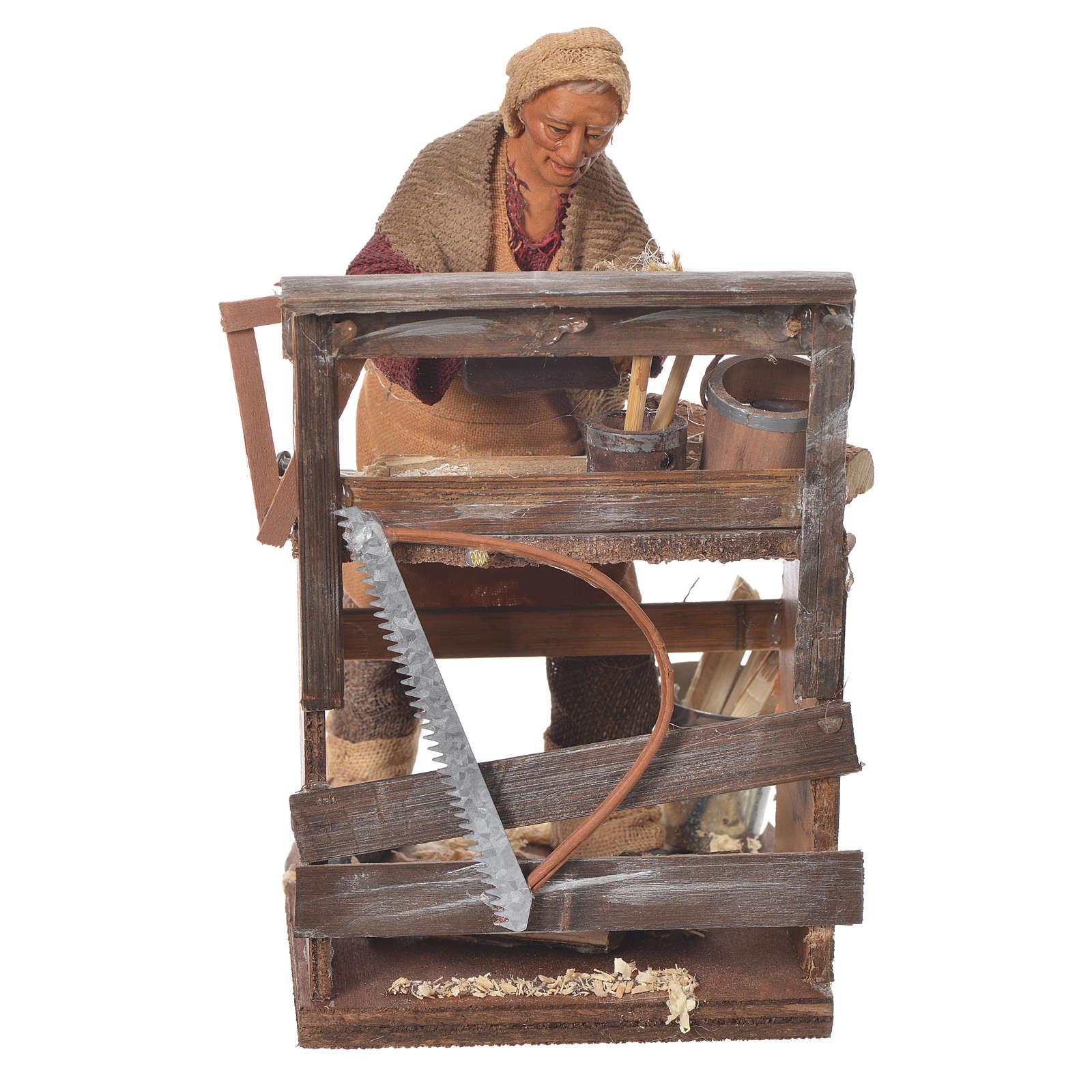 Carpenter with plane, Neapolitan Nativity 14cm 4