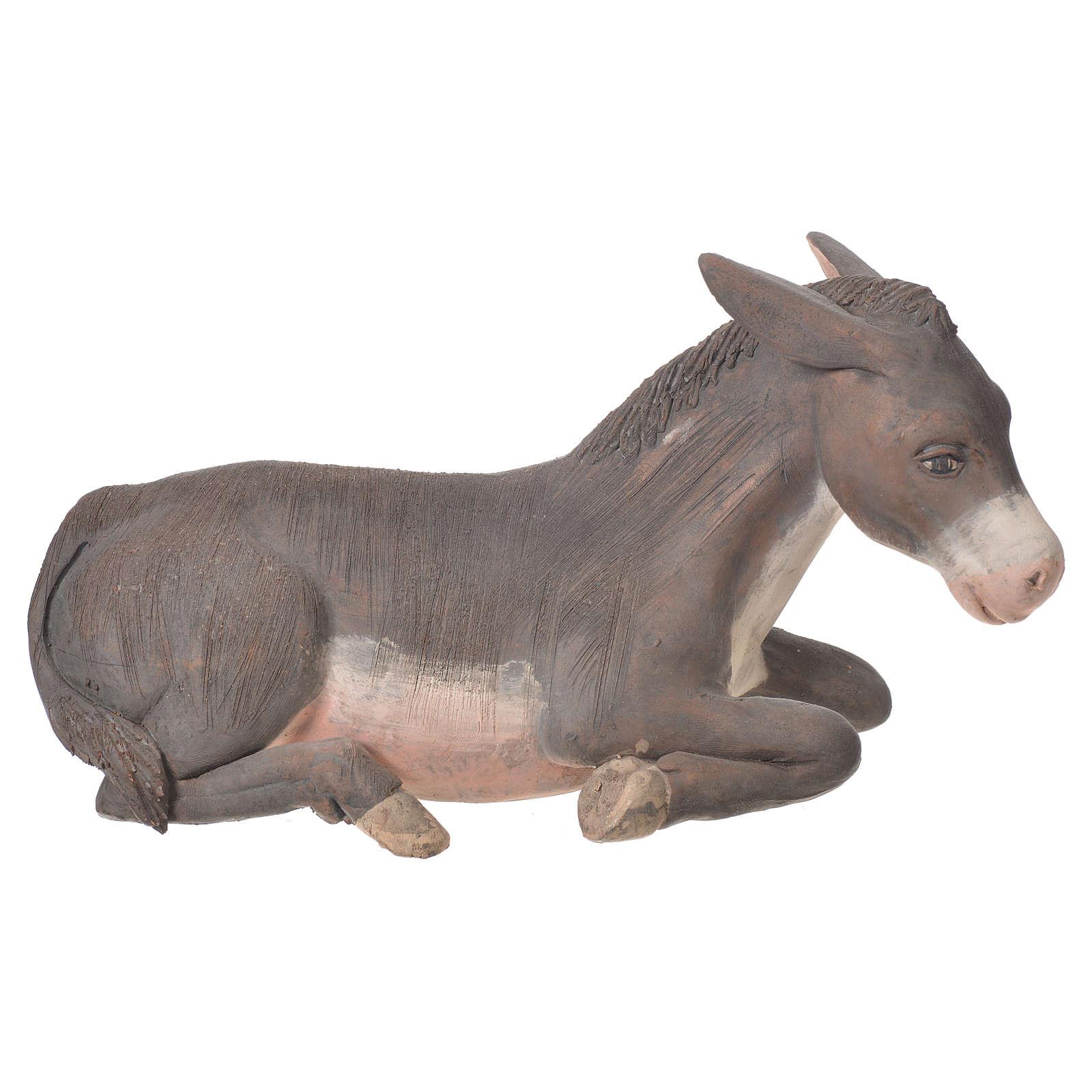 Donkey in terracotta, Neapolitan Nativity 24cm 4