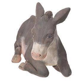 Donkey in terracotta, Neapolitan Nativity 24cm s4