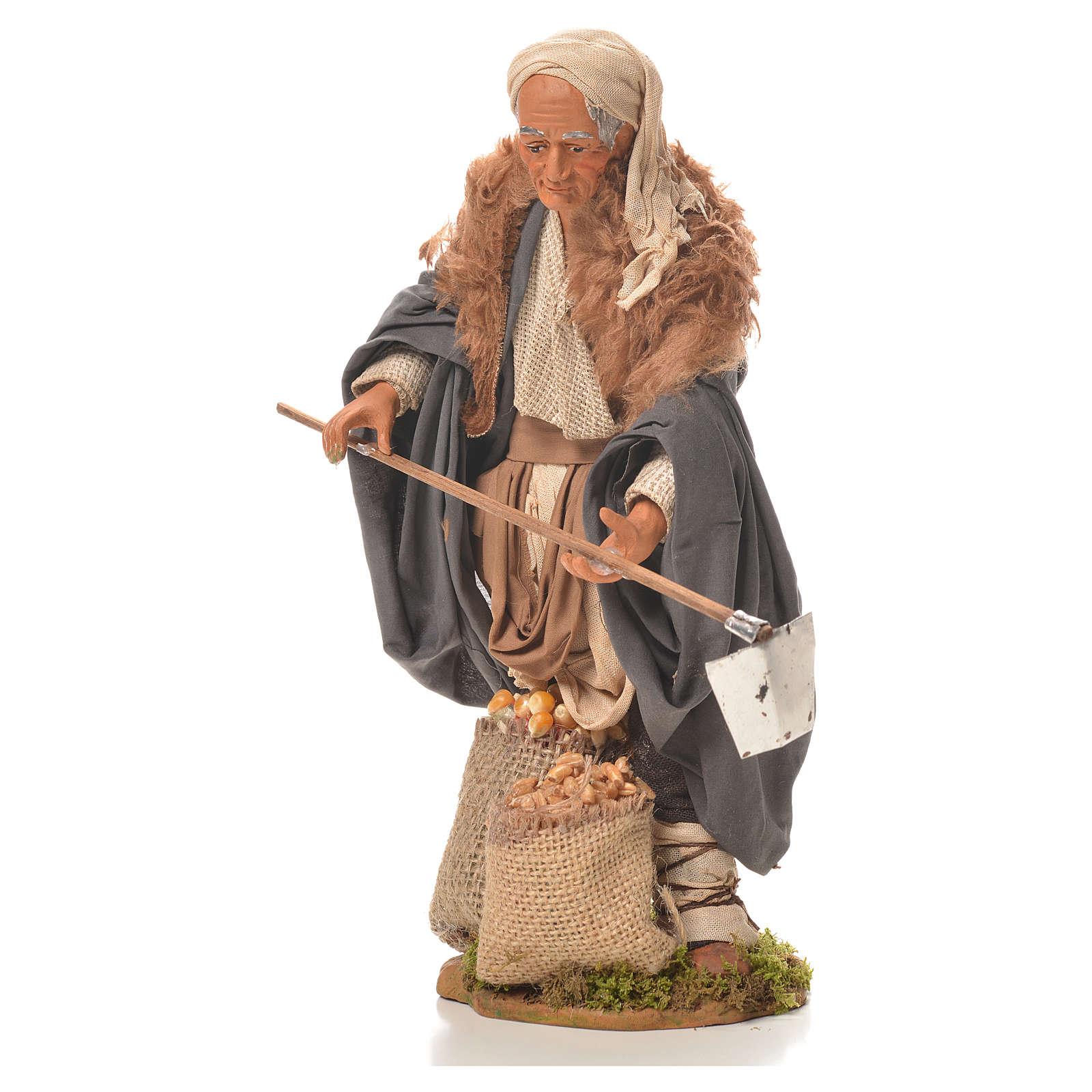 Man with hoe, Neapolitan Nativity 24cm 4