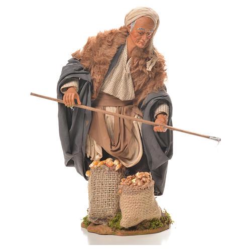 Man with hoe, Neapolitan Nativity 24cm 1