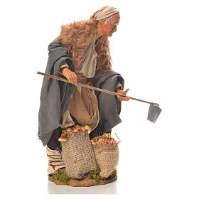 Man with hoe, Neapolitan Nativity 24cm s4