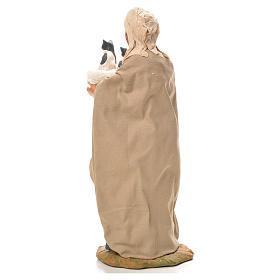 Mujer con cesta y gatos 24 cm belén Napolitano s3