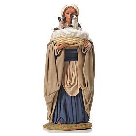 Mujer con cesta y gatos 24 cm belén Napolitano s5