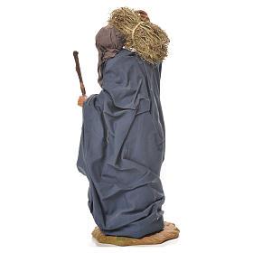 Donna con paglia e scopa 24 cm presepe napoletano s3