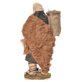 Charbonnier avec sac à l'épaule 24 cm crèche napolitaine s3