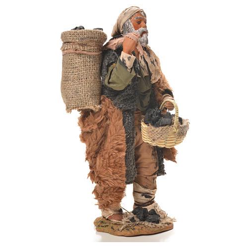 Charbonnier avec sac à l'épaule 24 cm crèche napolitaine 4