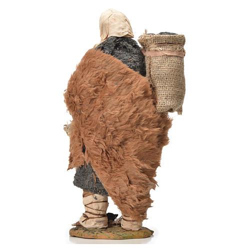 Charbonnier avec sac à l'épaule 24 cm crèche napolitaine 7