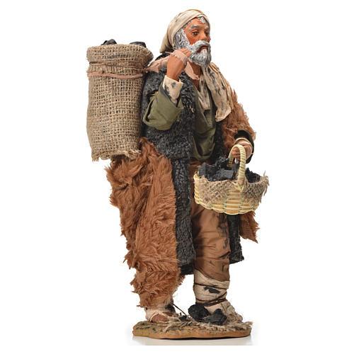Charbonnier avec sac à l'épaule 24 cm crèche napolitaine 8