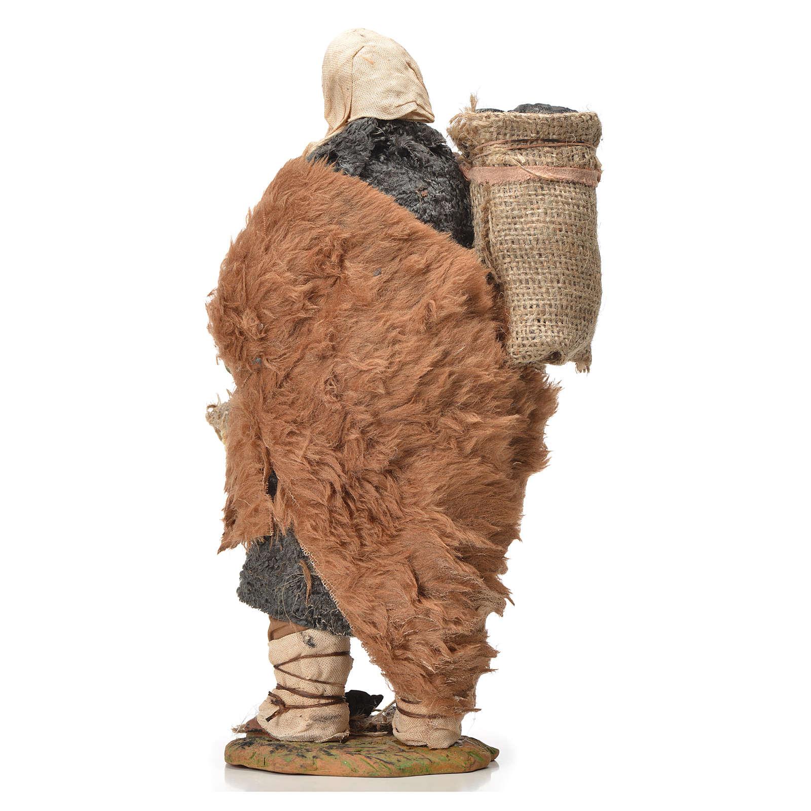 Carbonaio sacco spalla 24 cm presepe napoletano 4