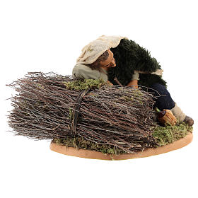 Sleeping man, Neapolitan Nativity 30cm s4