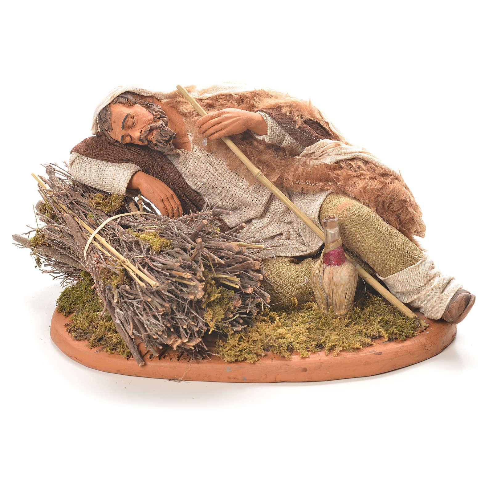 Berger endormi 30 cm crèche napolitaine 4