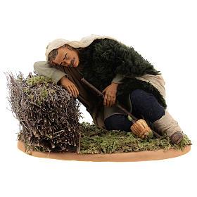 Crèche Napolitaine: Berger endormi 30 cm crèche napolitaine