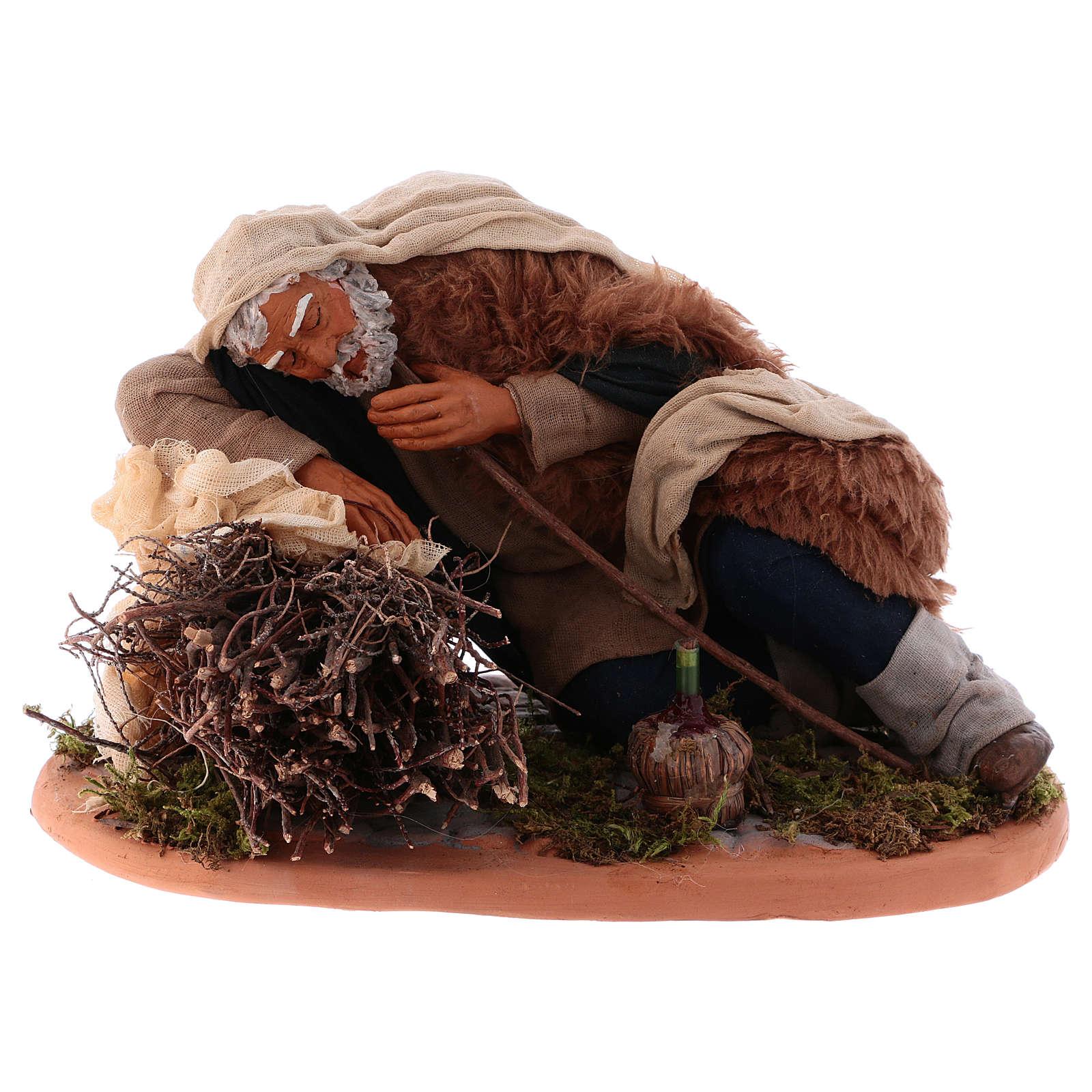 Sleeping man, Neapolitan Nativity 30cm 4