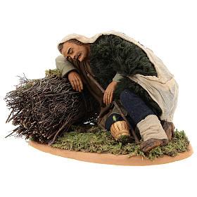 Sleeping man, Neapolitan Nativity 30cm s3