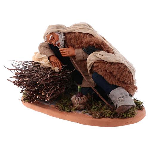 Sleeping man, Neapolitan Nativity 30cm 2