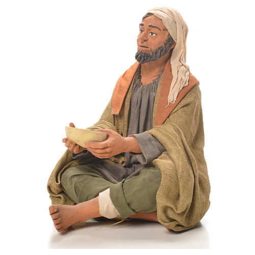 Man with plate, Neapolitan Nativity bivouac 30cm 2