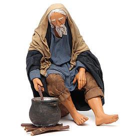 Homme avec chaudron 30 cm crèche napolitaine s1