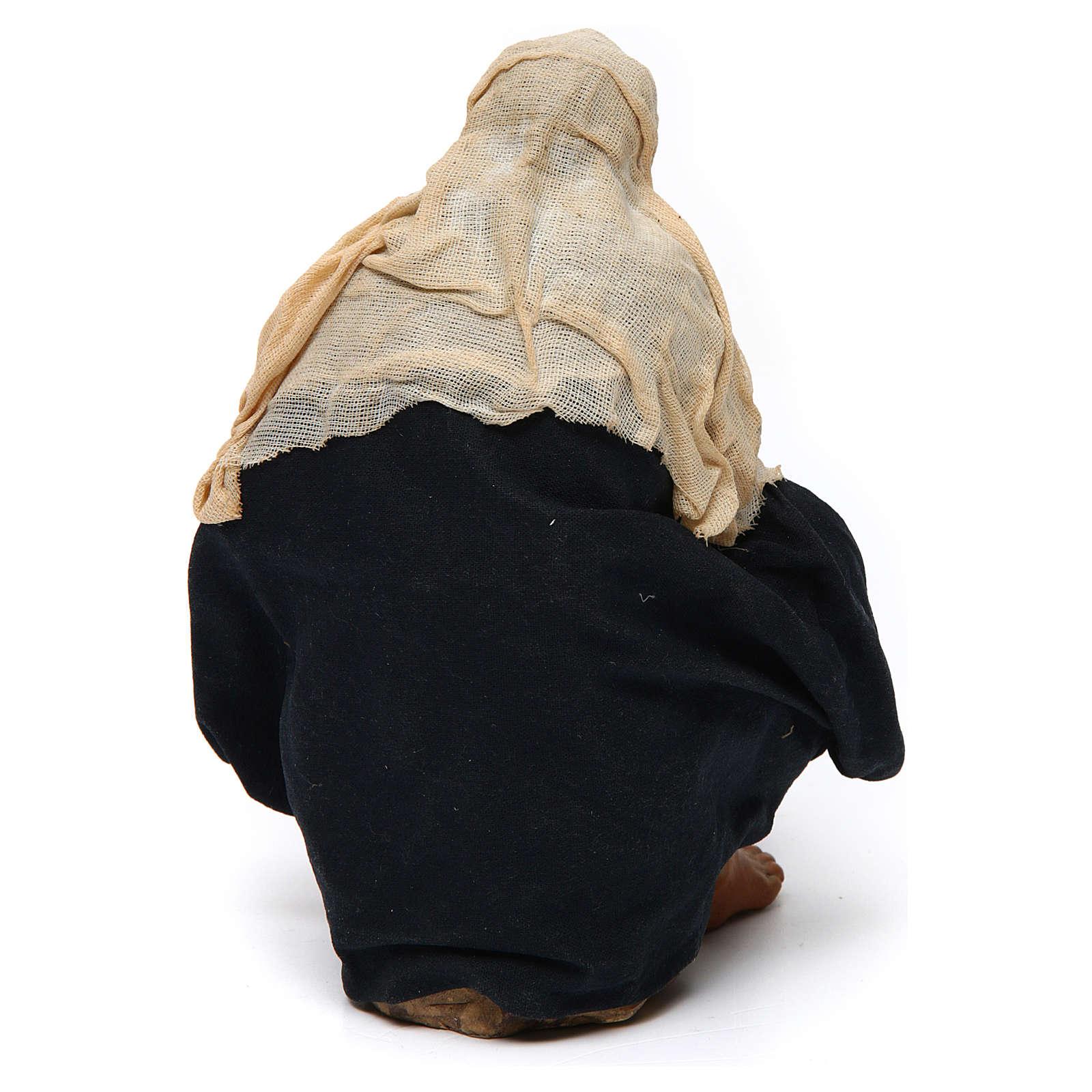 Uomo con pentolone bivacco 30 cm presepe napoletano 4
