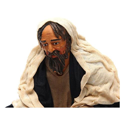 Uomo con pentolone bivacco 30 cm presepe napoletano 2