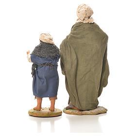 Mamma con bimbo per mano 24 cm presepe Napoli s3