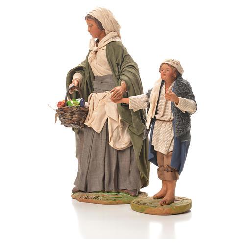 Mother holding child's hand, Neapolitan Nativity 24cm 2