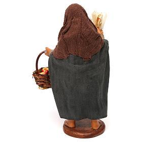 Woman with apple basket, Neapolitan Nativity 12cm s4