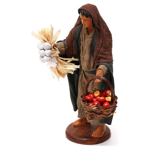 Woman with apple basket, Neapolitan Nativity 12cm 2
