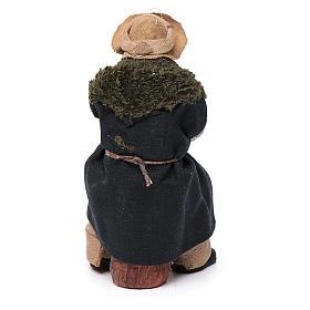 Vecchio seduto con bastone 12 cm presepe Napoli s4