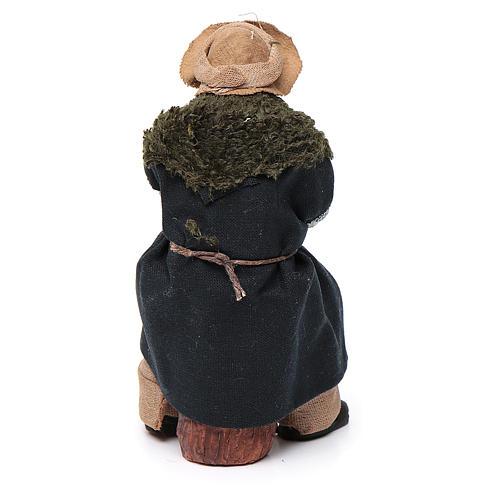 Vecchio seduto con bastone 12 cm presepe Napoli 4