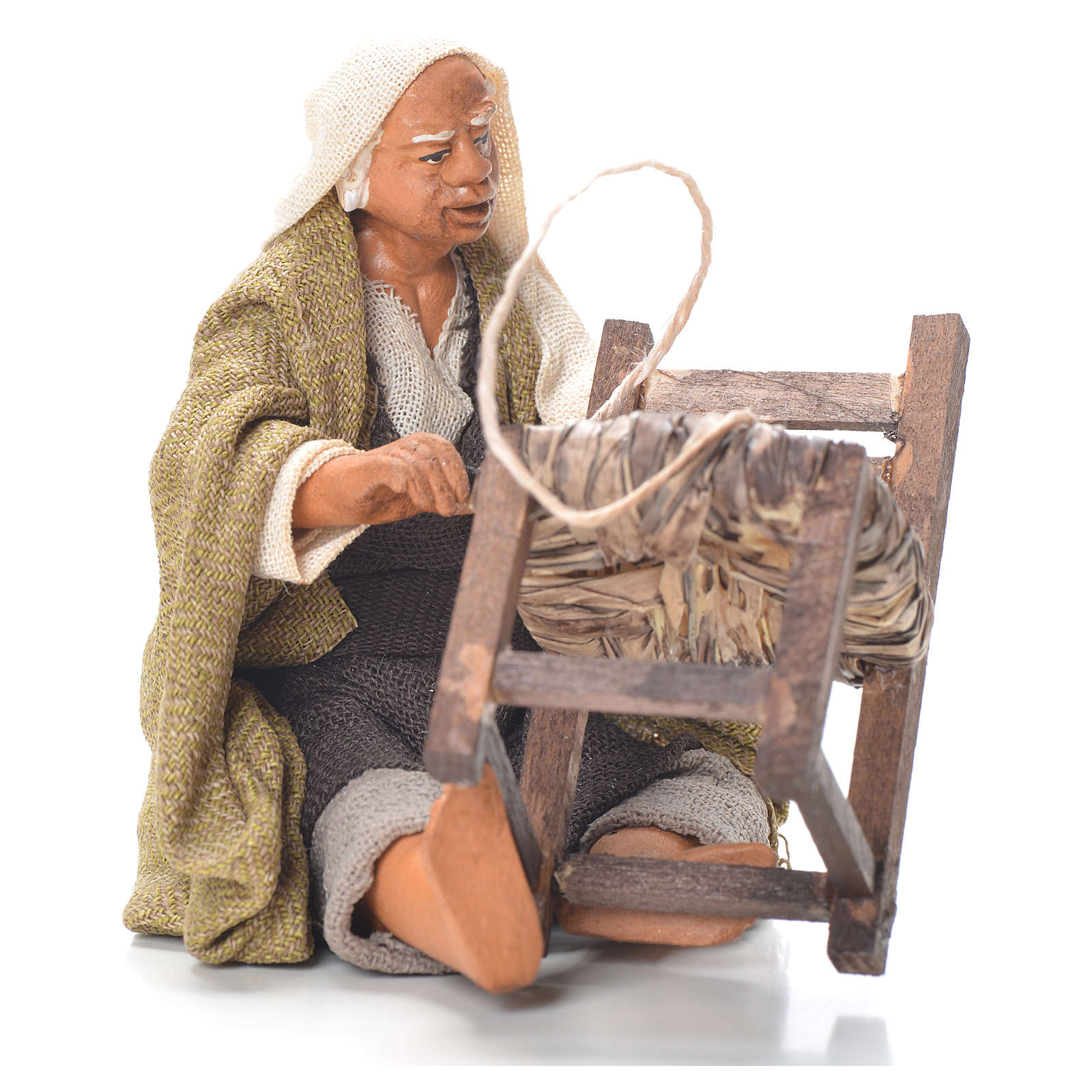 Riparatore sedie seduto 12 cm presepe Napoli 4