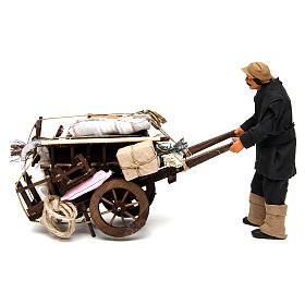 Uomo con carro sfrattato 14 cm presepe Napoli s1