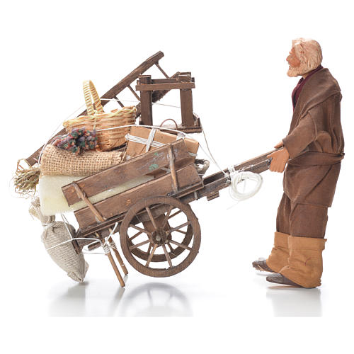 Evicted man with cart, Neapolitan Nativity 14cm 1