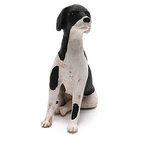 Terracotta dog sitting, 24cm Neapolitan Nativity s2