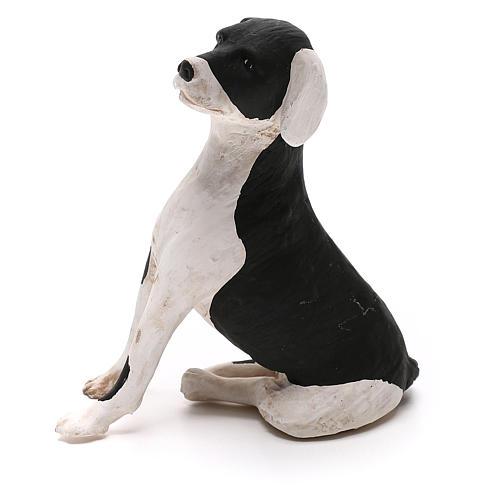 Terracotta dog sitting, 24cm Neapolitan Nativity 1