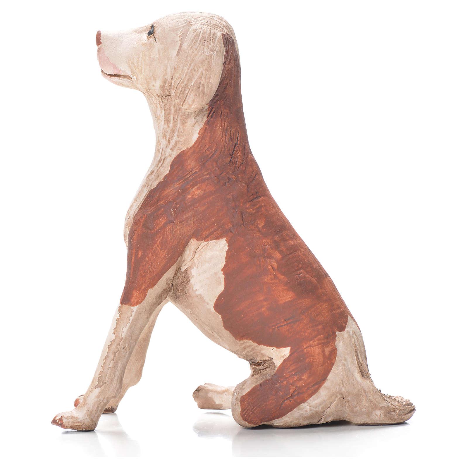 Cane seduto 24 cm terracotta presepe Napoli 4