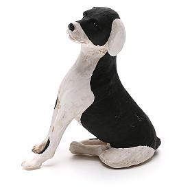 Terracotta dog sitting, 24cm Neapolitan Nativity s1