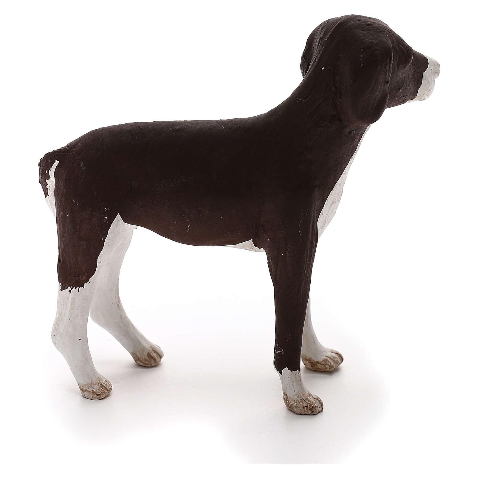 Terracotta dog standing, 24cm Neapolitan Nativity 4