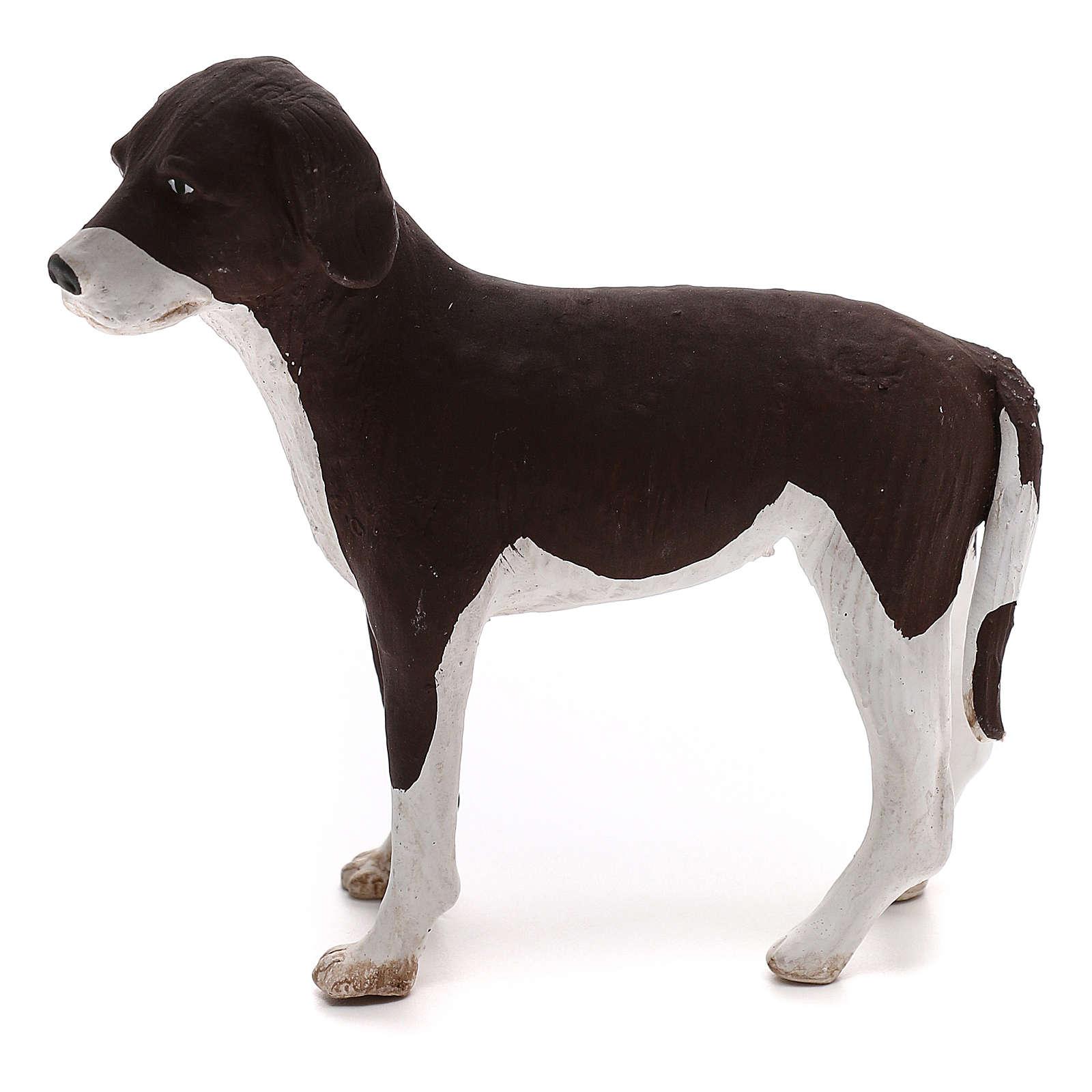 Perro de pie 24 cm de altura media terracota belén Nápoles 4