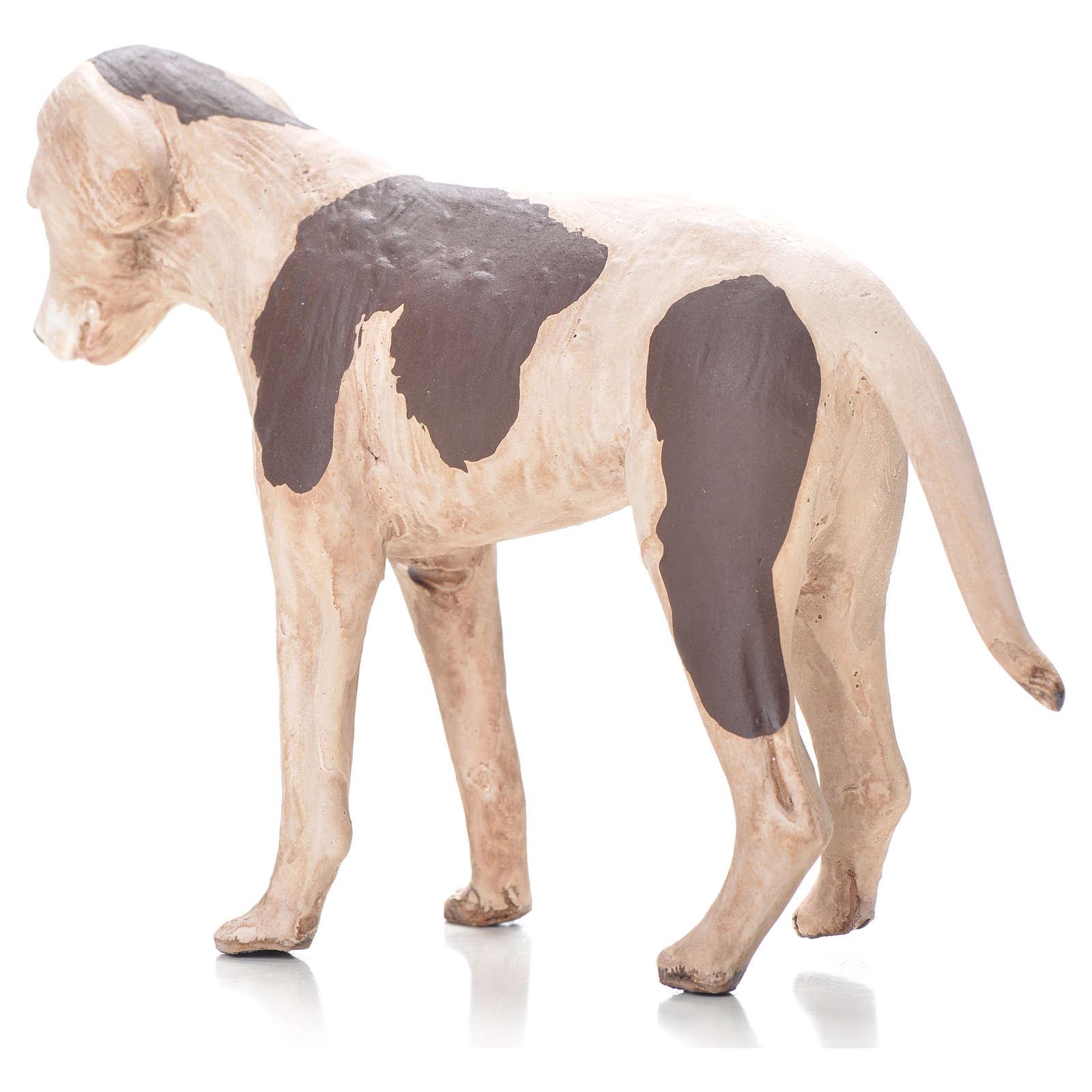 Cane in piedi 24 cm terracotta presepe Napoli 4